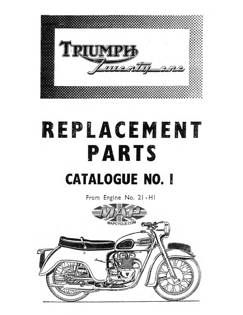 Triumph 1957-74 350-500 free searchable parts catalog - THE VINTAGE BIKE  BUILDERthe vintage bike builder